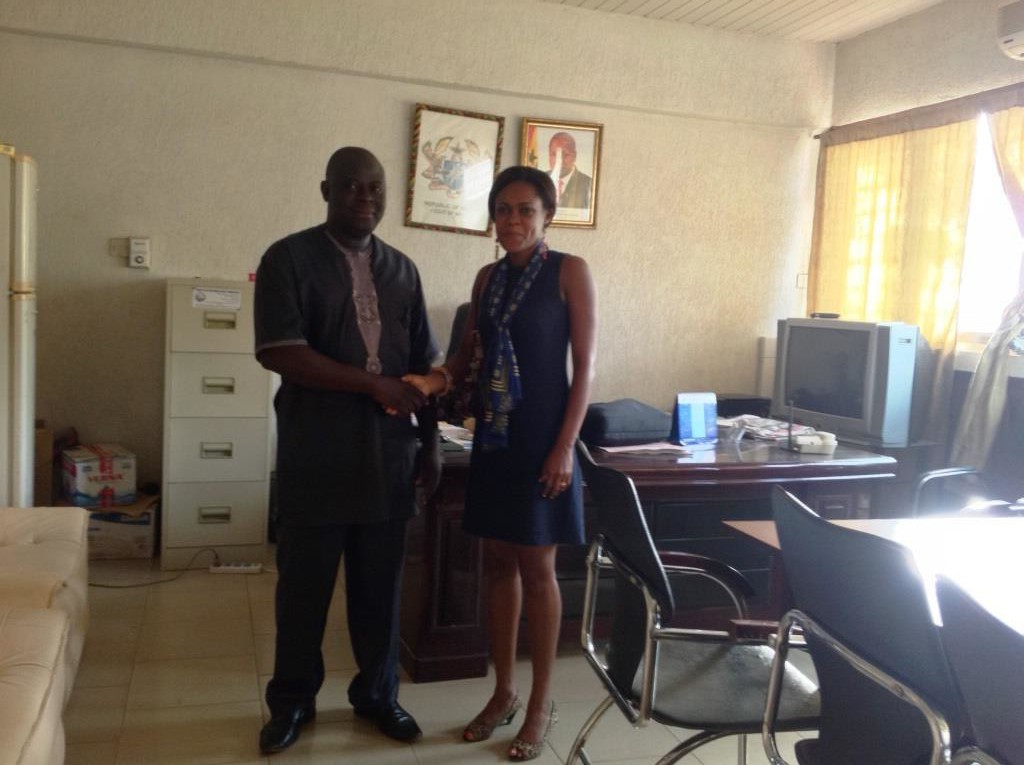DCE West Mamprusi with Programs Manager MFWA