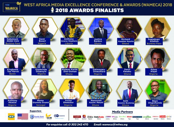 West Africa Media Excellence Awards 2018: List of Finalists
