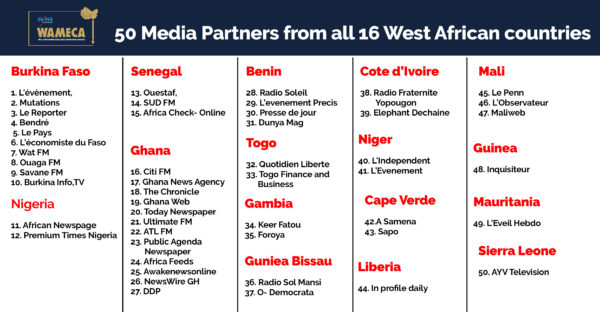 50 Media Outlets from the 16 Countries in West Africa